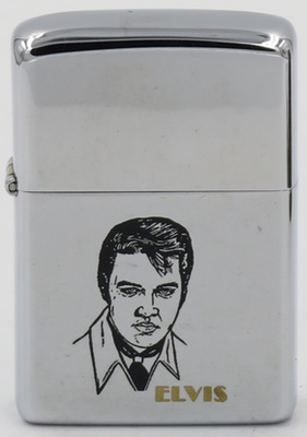 1978 Zippo with Elvis on high-polish chrome finish.
