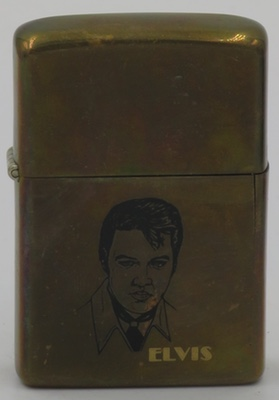 Gold-plated 1982 Zippo with Elvis