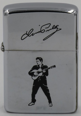1987 Zippo with signature and Elvis playing the guitar.
