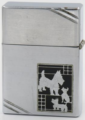 Rare 1936 Zippo with Scotty Dog Metallique