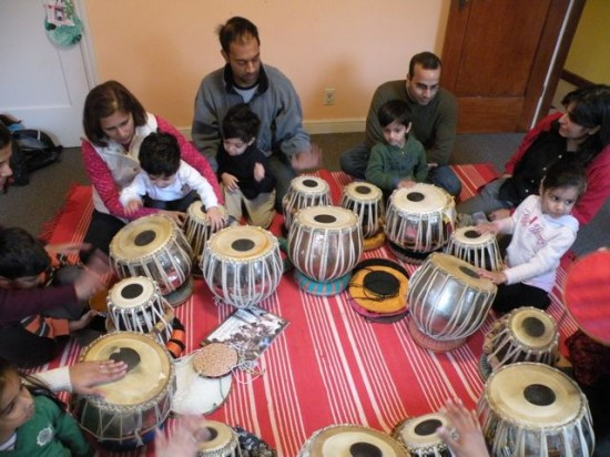 Kids Music Class with Tabla (Indian Drums) on Peninsula