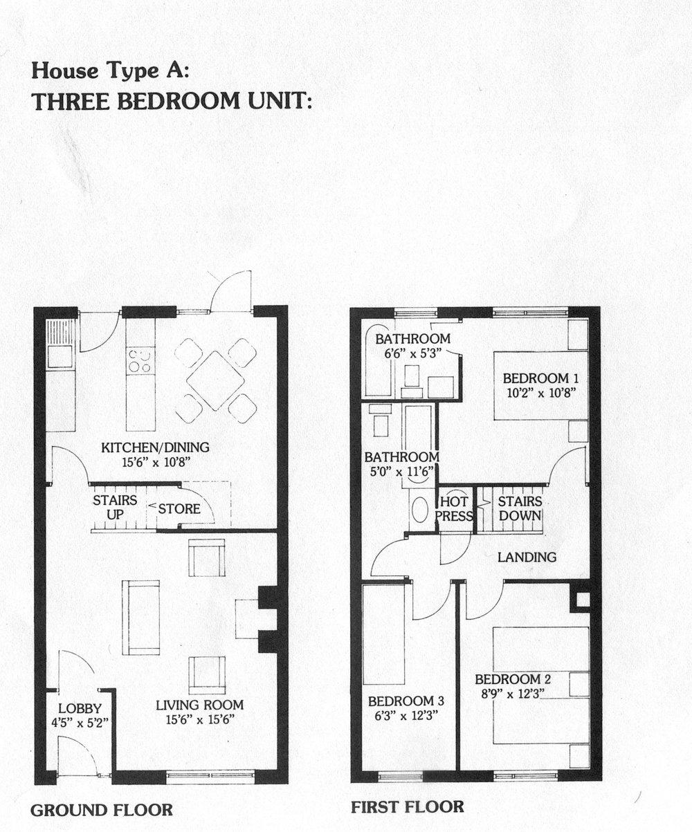 Two storey three bedroom 92 sq.m