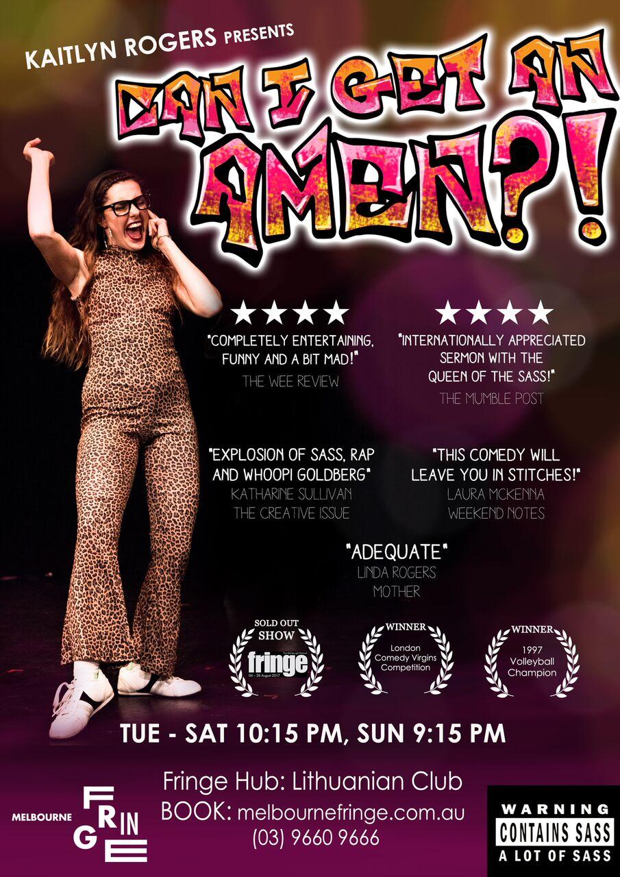 Can I Get An Amen Poster - Melbourne Fringe.jpg