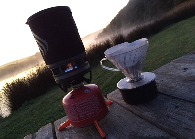 Camping Hiking Holiday Pourover Coffee
