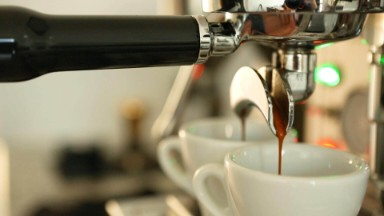 Home Barista Workflow - pulling an espresso shot at home with a traditional manual Italian coffee espresso machine using a home espresso workflow