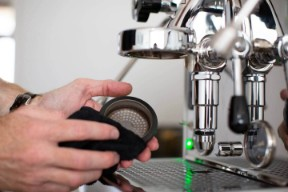Italian espresso machine maintenance - cleaning the shower screen on your E61 manual espresso machine
