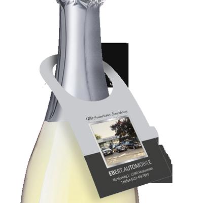 9104: Flaschenanhänger mit großer Öffnung für Sektflaschen