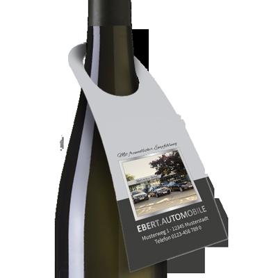 9105: Flaschenanhänger mit kleiner Öffnung für Weinflaschen