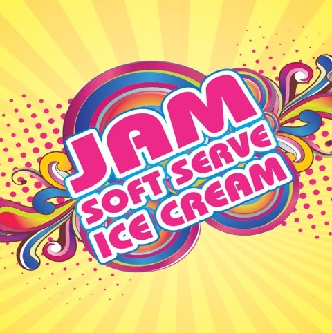 JAM SOFT SERVE ICE CREAM
