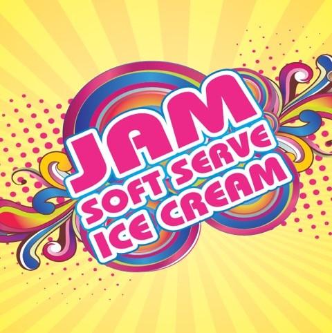 JAM SOFT SERVE ICE CREAM