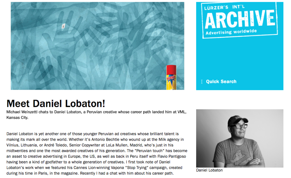 "Read more: Luerzer's Archive interview ""Meet Daniel Lobatón"""
