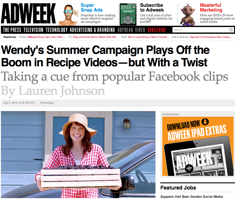 "Read more: Adweek ""Summer Berry Salad"""