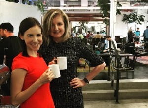 Callie Schweitzer and Arianna Huffington