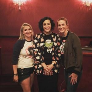 Jess McIntosh, Meagan Hatcher-Mays, and me