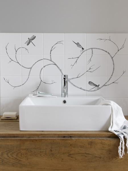 Dragonfly tile mural