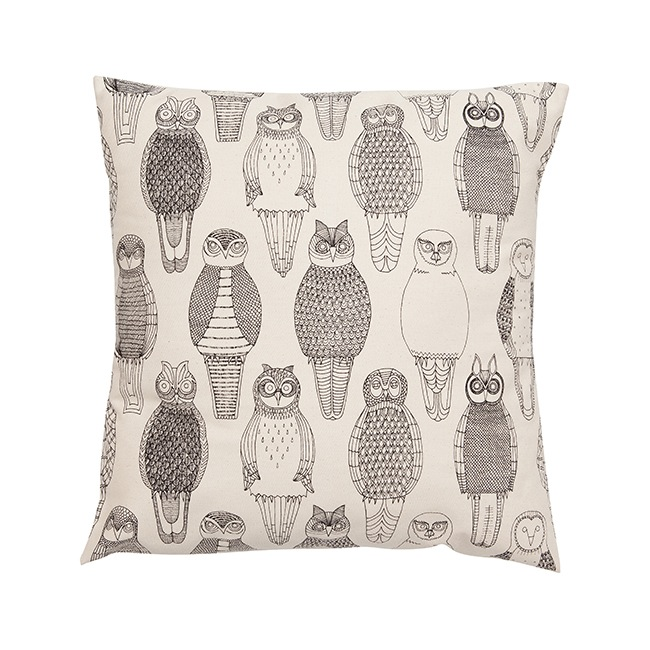 Owls of the British Isles Cushion Cover by Abigail Edwards