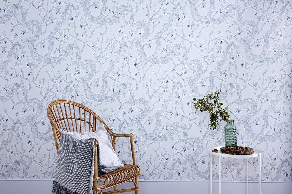 New Wallpaper Design Oak Tree Abigail Edwards Hand Drawn