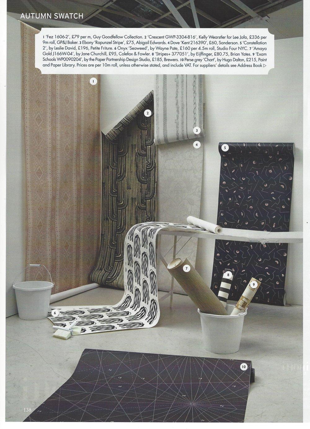Rapunzel Stripe in World of Interiors