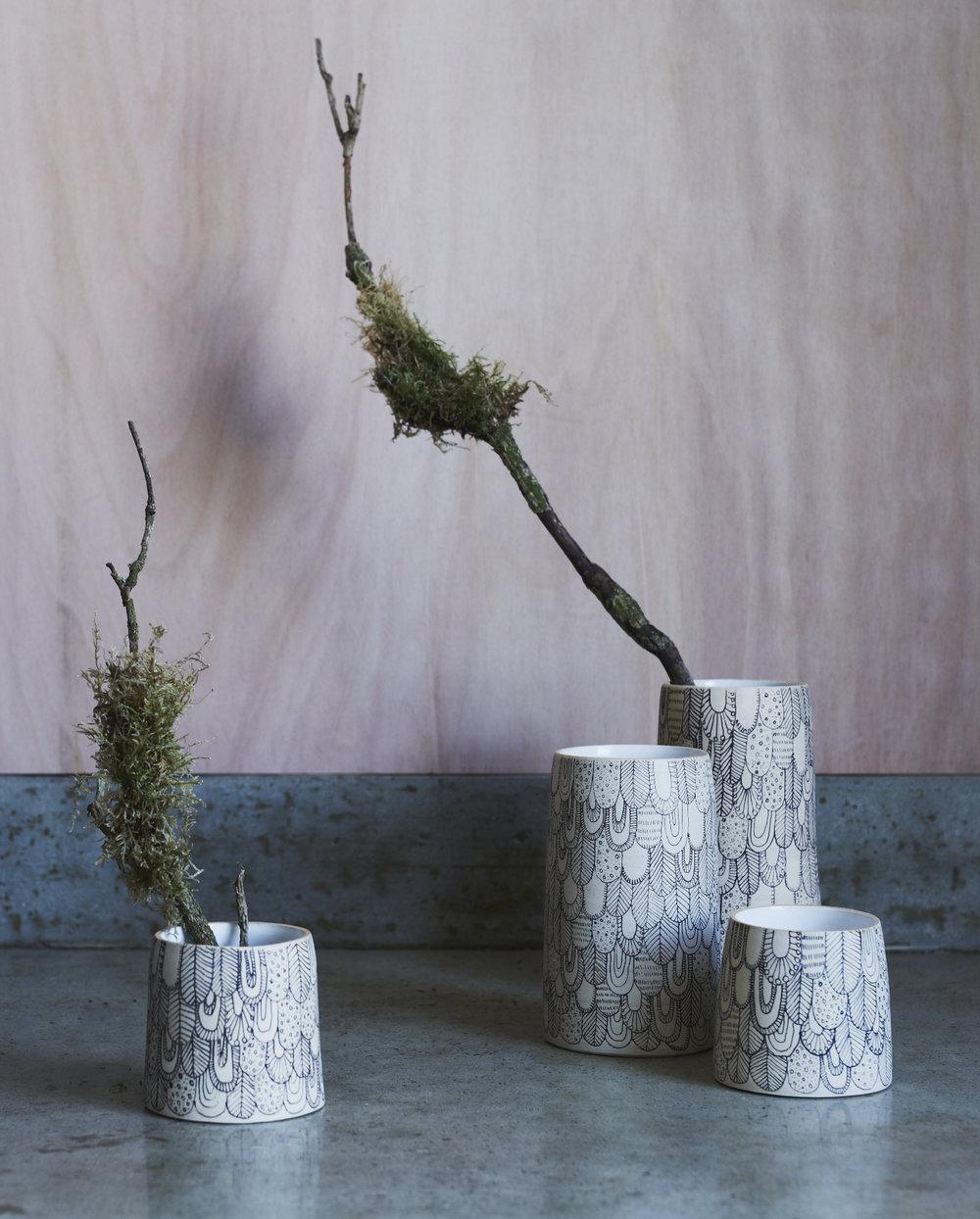 Muck Ceramics x Abigail Edwards limited edition Bird vessels