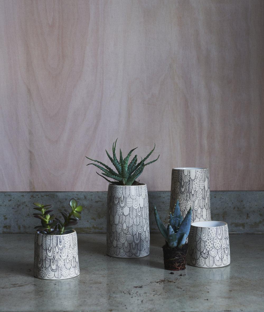 Muck Ceramics x Abigail Edwards Bird vessels