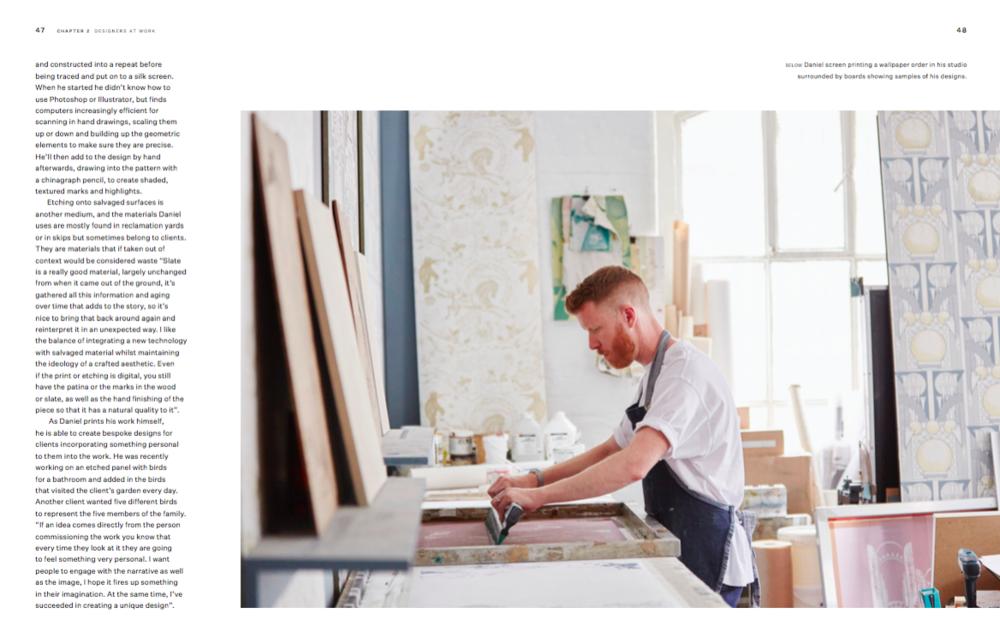 Daniel Heath in his East London studio