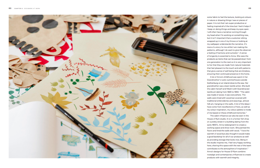 Anna Backlund's working sketches in the House Of Rym studio in Gothenburg