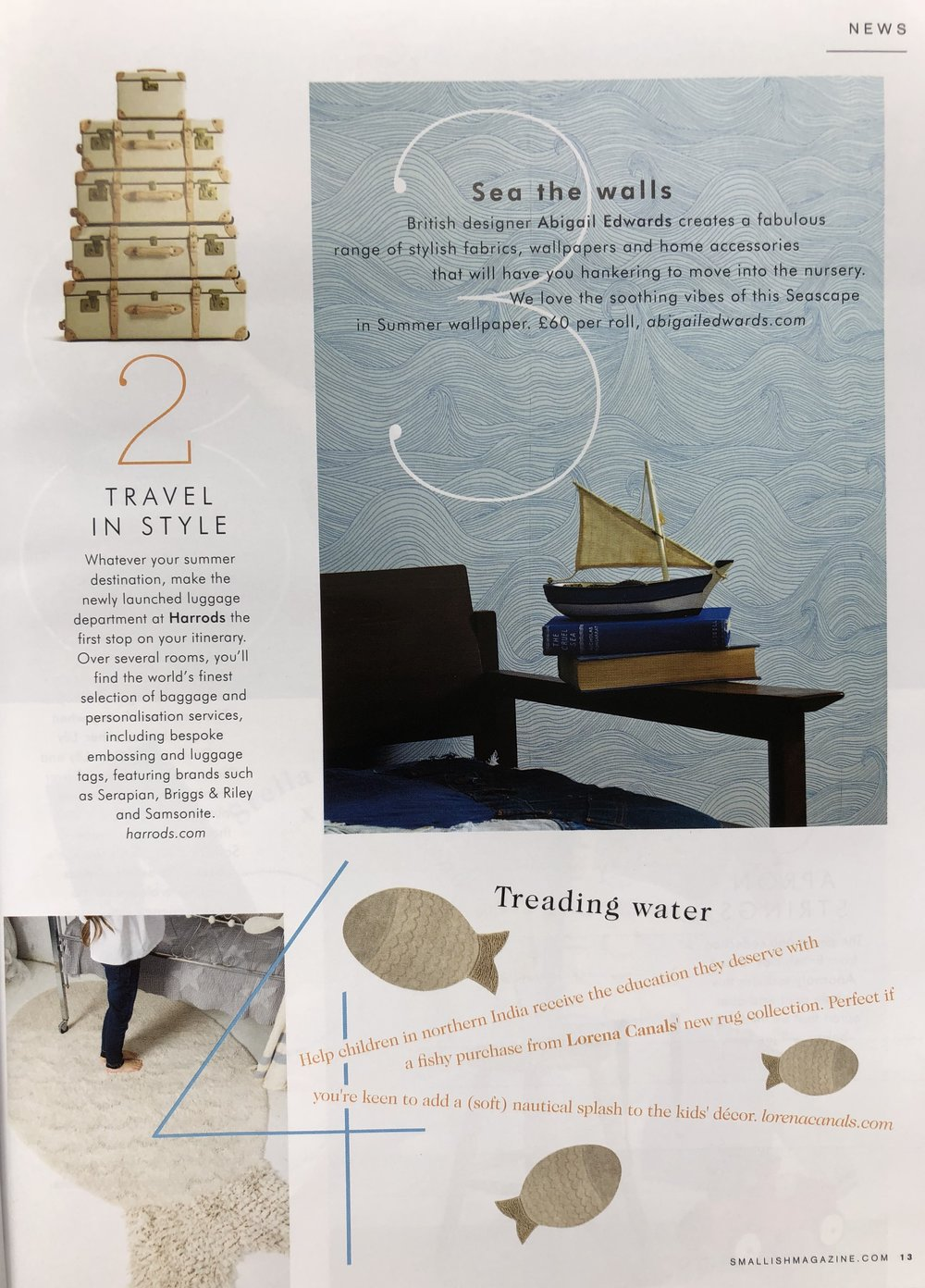 Seascape wallpaper in Summer in Smallish magazine