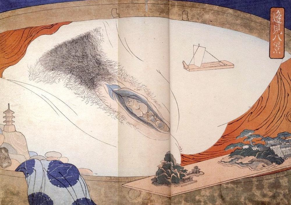 Estampe de Katsushika HokusaÏ.