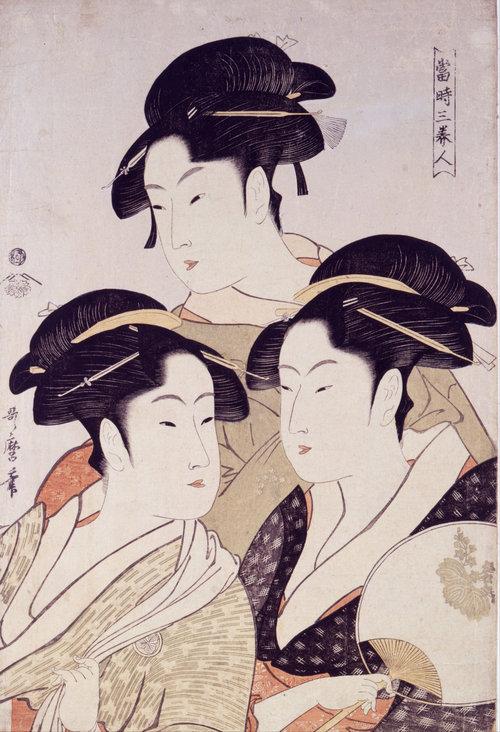 Les Trois beautés | Utamaro.