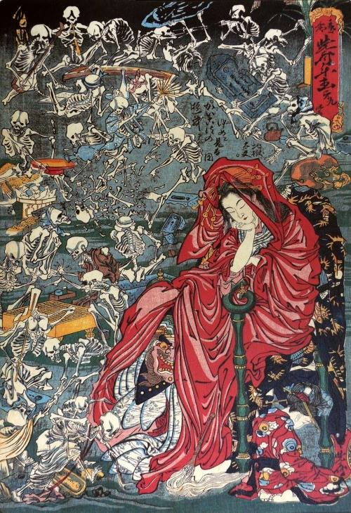 Courtisane infernale | Kawanabe Kyosai [1874]