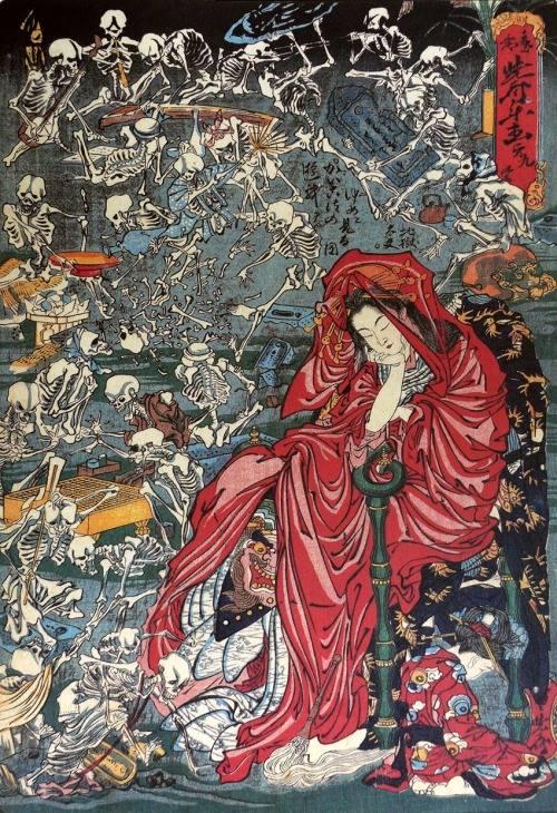 Courtisane infernale | Kawanabe Kyosai [1874]