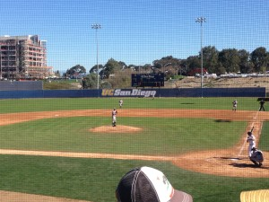 Opening day on new field at UCSD