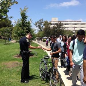 UA bicyclist gets a ticket