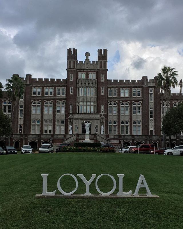 Loyola is another #coolcollegetoconsider in New Orleans right next door to Tulane. #music #masscomm #dance and fresh sushi for lunch!