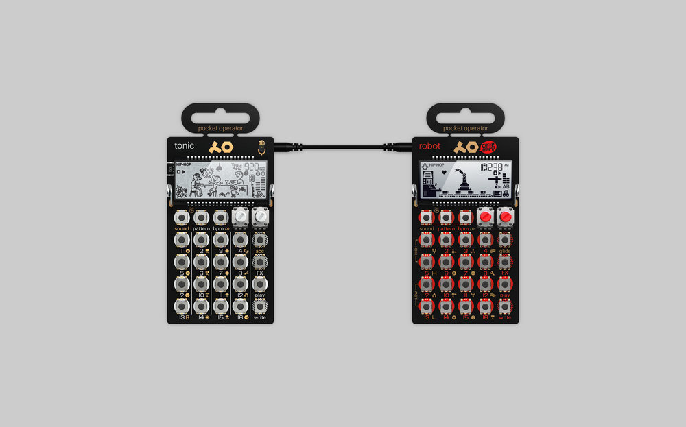 The Pocket Operators can all be linked and synced to one another. Photo: Teenage Engineering