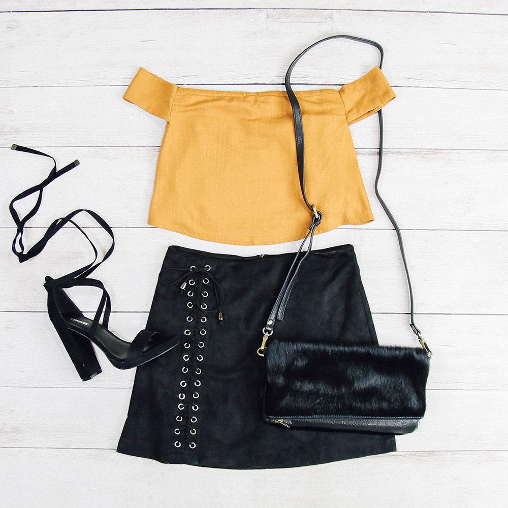 Fauna Skirt - Black, Zamia Crop - Mustard 173A8638.jpg