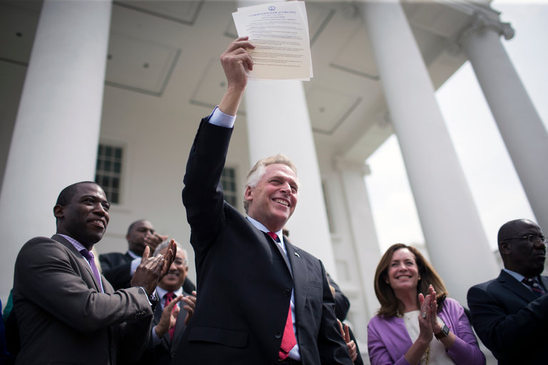 "Friday, Nov. 4, 2016"" Terry McAuliffe unleashes 200,000 new Hillary voters on the election"
