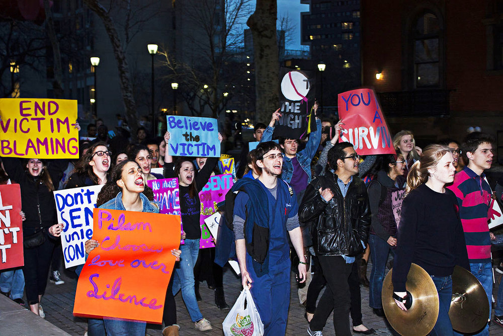 UPENN STUDENTS PROTEST IN SUPPORT OF  Juanita Broaddrick