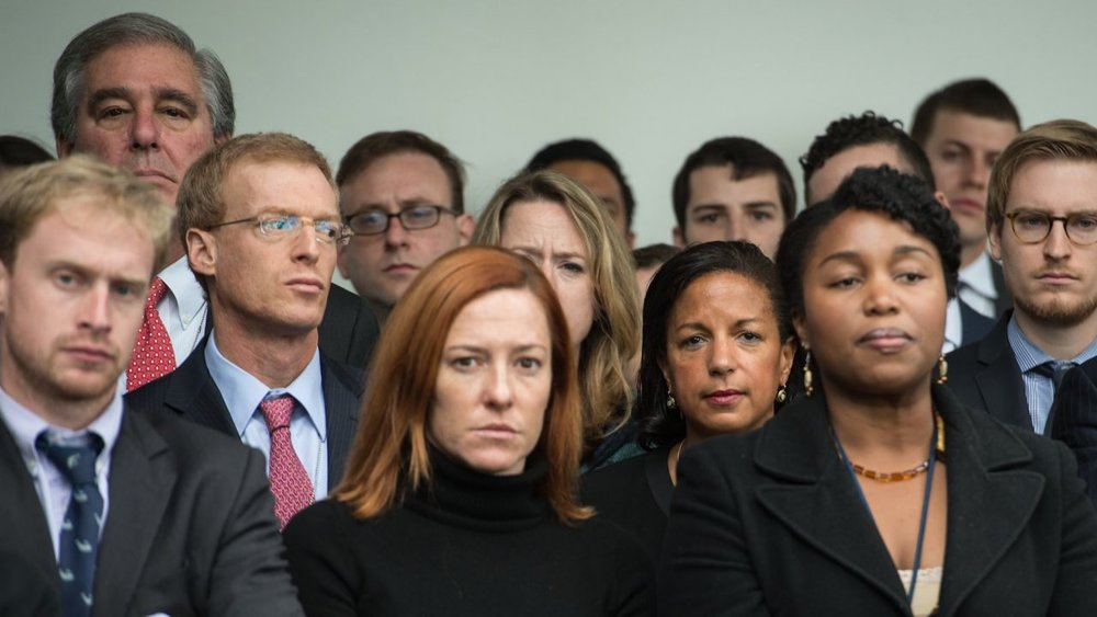 The morning after: Jen Psaki and shellshocked White House aides await the triumphant visit of Donald Trump to their den