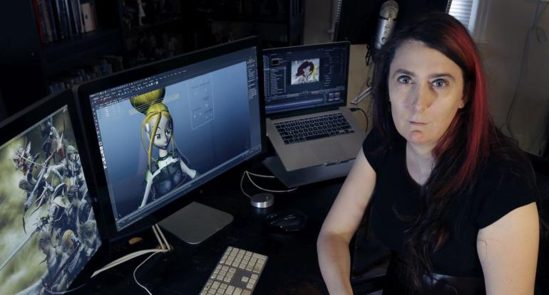 Ms brianna Wu attempts to look thoughtful