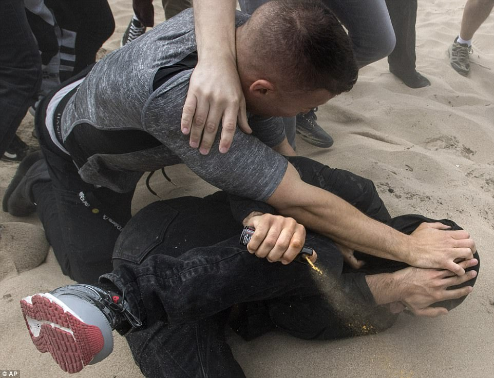 "Gee, an ""ant0fascist"" brought pepper spray to his protest - who'd have thunk?"