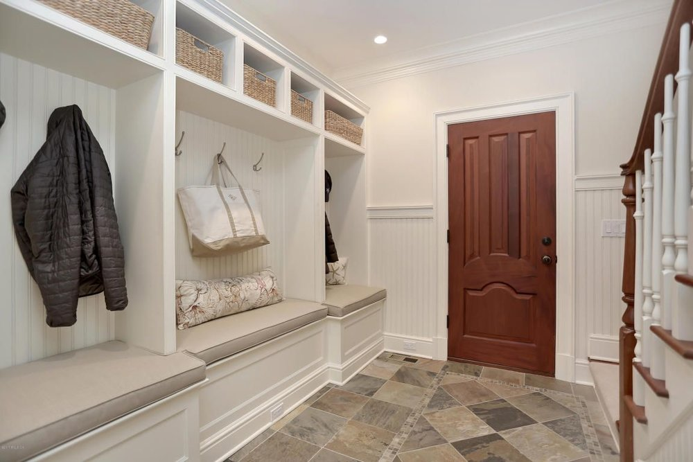 Spacious mudroom, though