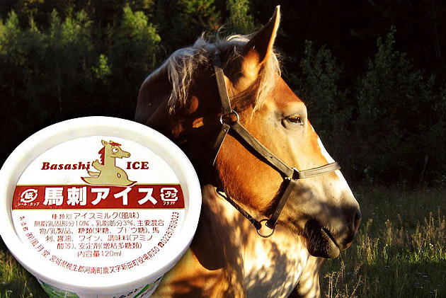 Basashi — horsemeat-flavored ice cream
