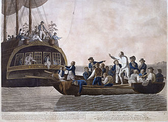 Mr. Christian and crew lose faith in Captain Bligh's leadership