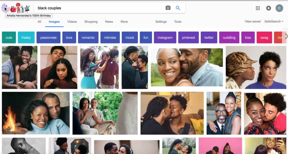 "Google, show me imges of ""black couples"""