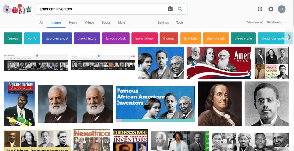 """Google, show me """"AMERICAN inventors"""""""