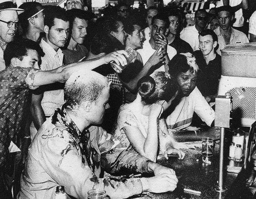 Picked the wrong lunch counter (Credit for a great caption goes to this group of tweeters:https://twitter.com/jtLOL/status/939816764317323264)