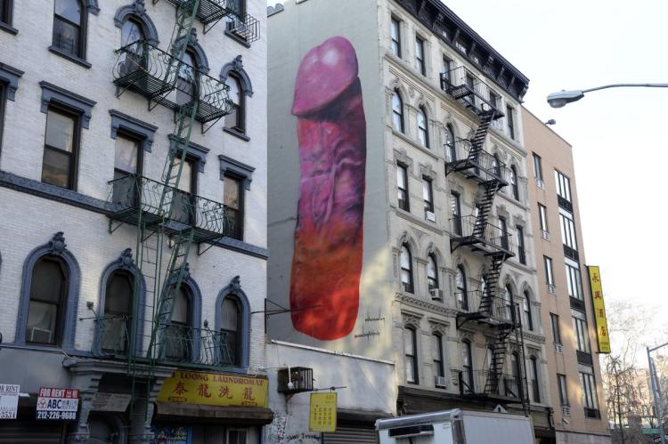 Well, if this is what passes for street art in New York, then why not? Society has lost its collective mind.