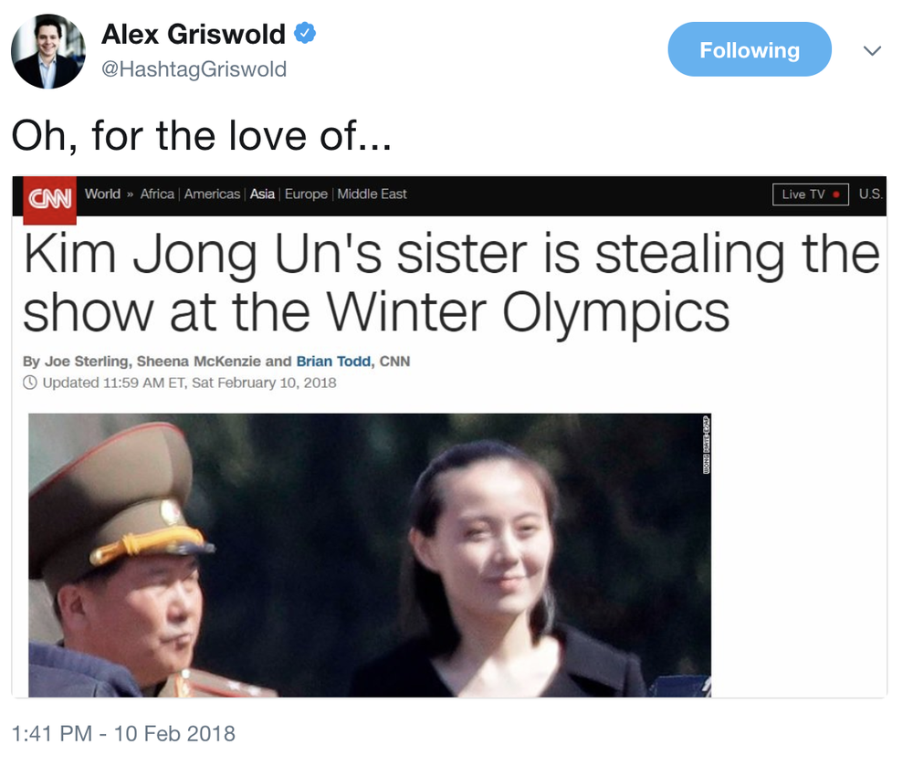 Too bad about her brother and uncle (executed by nerve gas and anti-aircraft gun, respectively), but hey, omelettes and broken eggs, and all that. Otto Warmbier was not available for comment.