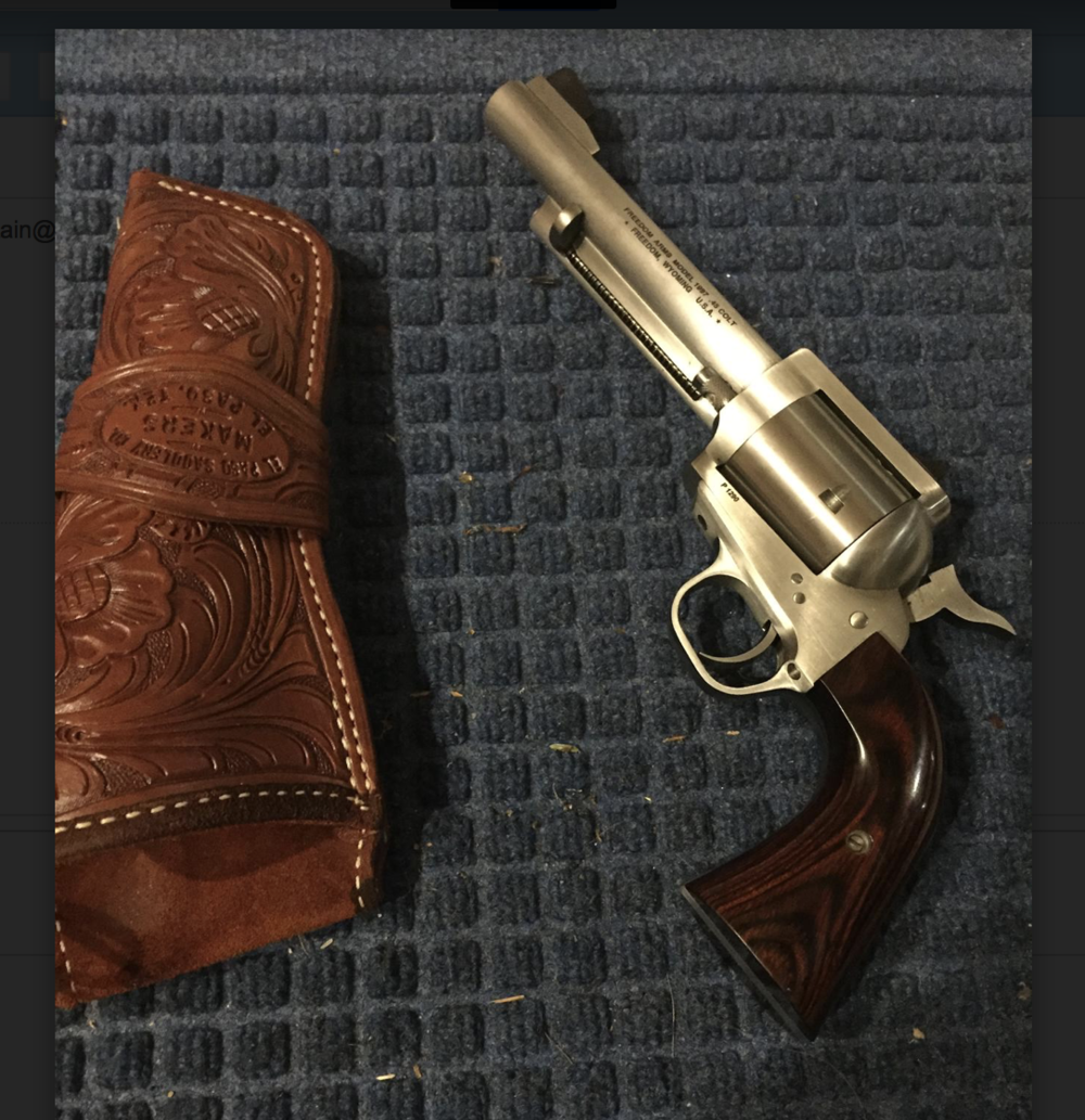 Have gun, will travel. It isn't the 7% solution, but the patented C. Fountain freedom arms .45 Long Colt solution should work wonders, nonetheless